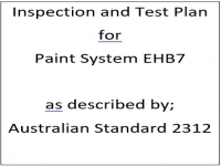 ITP for paint system EHB7 as described by Australian Standard 2312