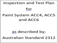 ITP for paint system ACC4, ACC5 and ACC6 as described by Australian Standard 2312