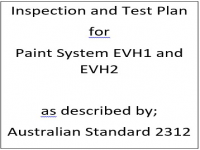 ITP for paint system EVH1 and EVH2 as described by Australian Standard 2312