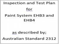 ITP for paint system EHB3 and EHB4 as described by Australian Standard 2312
