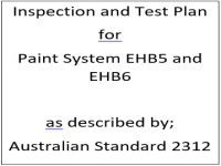 ITP for paint system EHB5 and EHB6 as described by Australian Standard 2312