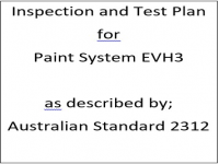 ITP for paint system EVH3 as described by Australian Standard 2312