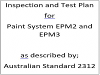 ITP for paint system EPM2 and EPM3 as described by Australian Standard 2312