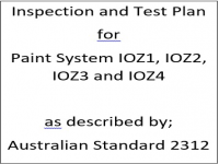 ITP for paint system IOZ1, IOZ2, IOZ3 and IOZ4 as described by Australian Standard 2312