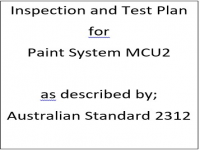 ITP for paint system MCU2 as described by Australian Standard 2312