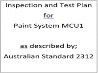 ITP for paint system MCU1 as described by Australian Standard 2312