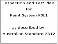 ITP for paint system PSL1 as described by Australian Standard 2312