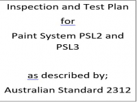ITP for paint system PSL2 and PSL3 as described by Australian Standard 2312