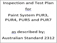 ITP for paint system PUR3, PUR4, PUR5 and PUR7 as described by Australian Standard 2312