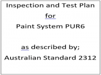 ITP for paint system PUR6 as described by Australian Standard 2312