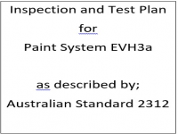 ITP for paint system EVH3a as described by Australian Standard 2312
