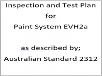 ITP for paint system EVH2a as described by Australian Standard 2312
