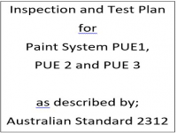 ITP for paint system PUE1, PUE2 and PUE3 as described by Australian Standard 2312