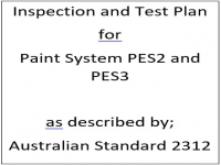 ITP for paint system PES2 and PES3 as described by Australian Standard 2312