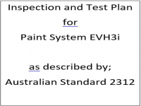 ITP for paint system EVH3i as described by Australian Standard 2312