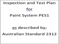 ITP for paint system PES1 as described by Australian Standard 2312