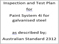 ITP for paint system 4i as described by Australian Standard 2312