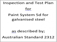 ITP for paint system 5d as described by Australian Standard 2312