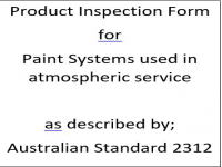 PIF for paint systems specified for atmospheric service on carbon steel as described by Australian Standard 2312