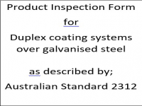 PIF for duplex paint systems over galvanised steel as described by Australian Standard 2312