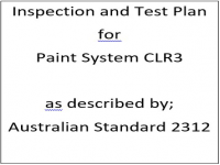 ITP for paint system CLR3 as described by Australian Standard 2312