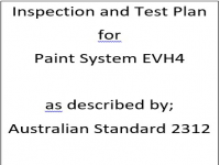 ITP for paint system EVH4 as described by Australian Standard 2312