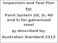 ITP for paint system 2d, 3i, 4d and 5i as described by Australian Standard 2312