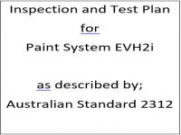 ITP for paint system EVH2i as described by Australian Standard 2312