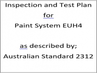 ITP for paint system EUH4 as described by Australian Standard 2312