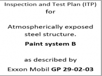 ITP for paint system B as described by Exxon Mobil GP-29-02-03