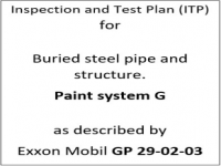 ITP for paint system G as described by Exxon Mobil GP-29-02-03