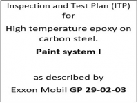 ITP for paint system I as described by Exxon Mobil GP-29-02-03