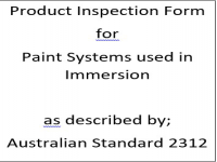 PIF for paint systems specified for immersion as described by Australian Standard 2312