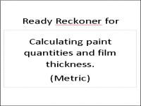 PIF for calculating paint quantities and film thickness in Metric