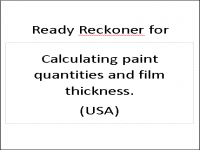 PIF for calculating paint quantities and film thickness in USA