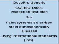 A Generic ITP developed by DocoPro for paint systems specified for atmospheric service using international standards (ISO).