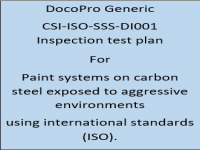 A Generic ITP developed by DocoPro for paint systems specified for immersion in aggressive environments using international standards (ISO).