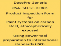 A Generic PIF developed by DocoPro for paint systems specified for atmospheric service using power-tool preparation to international standards (ISO).