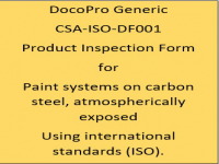 A Generic PIF developed by DocoPro for paint systems specified for atmospheric service using international standards (ISO).