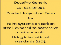 A Generic PIF developed by DocoPro for paint systems specified for immersion in aggressive environments using international standards (ISO).